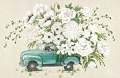 White Floral Truck