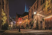 Winter Nighttime Street 2