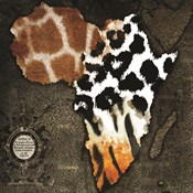 Animal Fur Africa Map