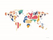 Abstract Colorful World Map