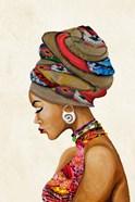 African Goddess on Beige