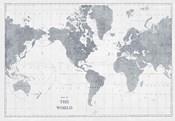 World Map Gray No Words