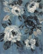 Loose Flowers on Dusty Blue II