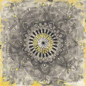Gray Concentric Mandala