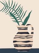 Dancing Vase With Palm III