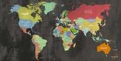 Modern Map of the World  (chalkboard, detail)