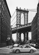 By the Manhattan Bridge (BW)