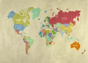 Modern Map of the World
