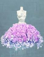 Dressed in Flowers II (Ocean Blue)