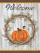 Pumpkin Welcome Wreath