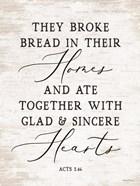 They Broke Bread