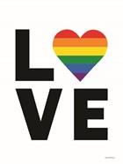 Rainbow Love Heart