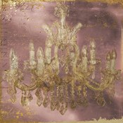 Rose and Gold Chandelier