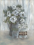 Floral Country Gray