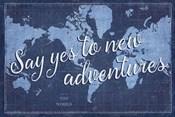 Blueprint World Map Say Yes