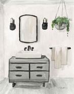 Attic Bathroom I Light Crop
