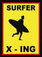Sign - Surfer Crossing