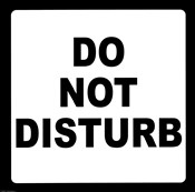 Sign - Do Not Disturb