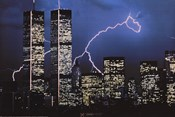 Lightning over World Trade Center