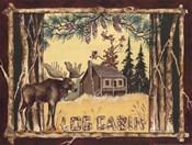 Log Cabin Moose
