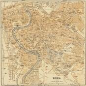 Mapa Di Roma, 1898