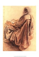 Sepia Man Reading