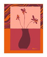 Minimalist Flowers in Orange III