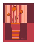 Minimalist Flowers in Orange IV