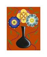 Stylized Flowers in Vase I