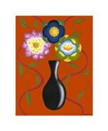 Stylized Flowers in Vase II