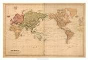 Map of the World, c.1800's (mercator projection)