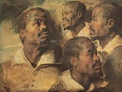 Four Negro Heads