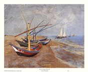 Fishing Boats on the Beach, Saintes-Maries-De-La-Mer, c.1888