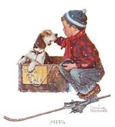 A Boy Meets His Dog