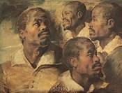 Four Negro Heads