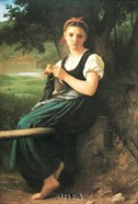 Knitting Girl, c.1869