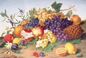 Still Life of Grapes, Pineapple, Figs