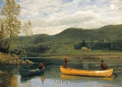 Men in Two Canoes