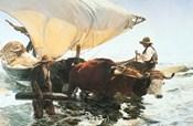 Retour de la Peche, Halage de la Barque