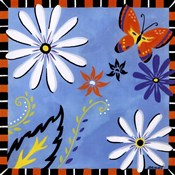 Daisies And Butterflies-Blue