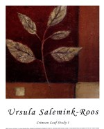 Crimson Leaf Study I