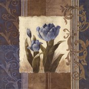 Blue Tulip Scroll