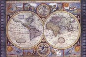 Map - Antique - New Map Of The World