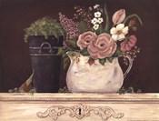 Floral W-Black Bucket