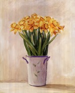 Yellow Daffodils In Vase