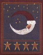 Crescent-Moon Santa