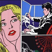 Man, Woman, Ferris Wheel