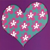 Pink Flowered Heart
