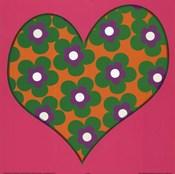 Green Flowered Heart