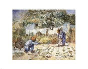 First Steps (after Millet), c.1890